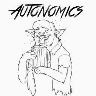Autonomics cat with beer